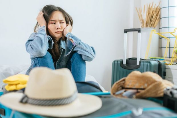 Student stuck at home