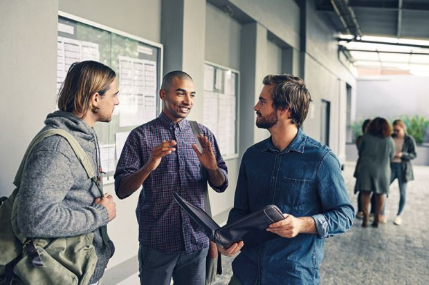 students-talking