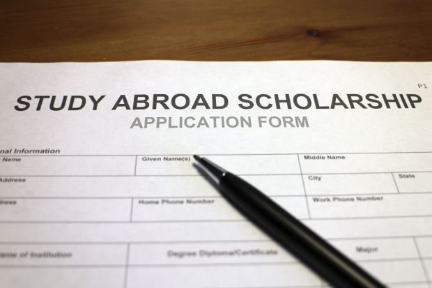 Study abroad scholarship form