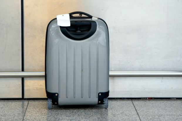 Suitcase left unattended in airport