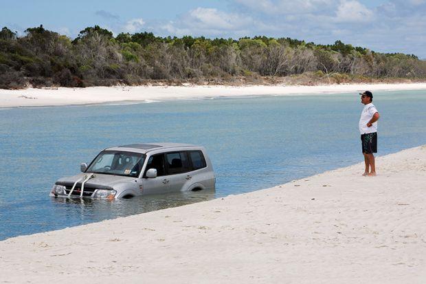 Sunk jeep