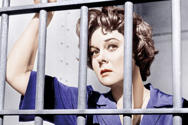 Susan Hayward in prison, I Want to Live! (1958)
