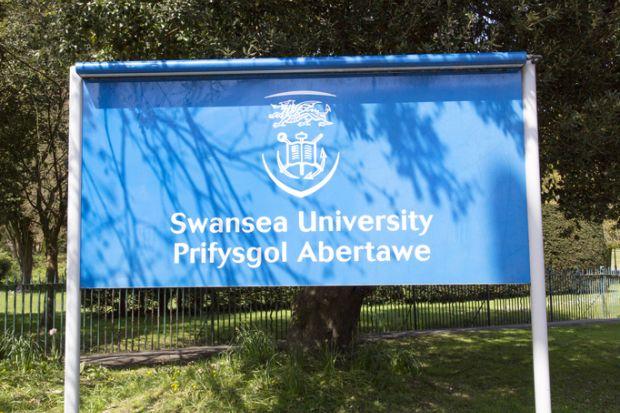 Swansea University sign