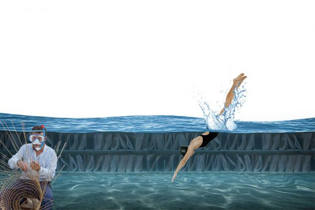 Swimmer and underwater weaver