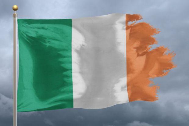 Tattered Irish flag