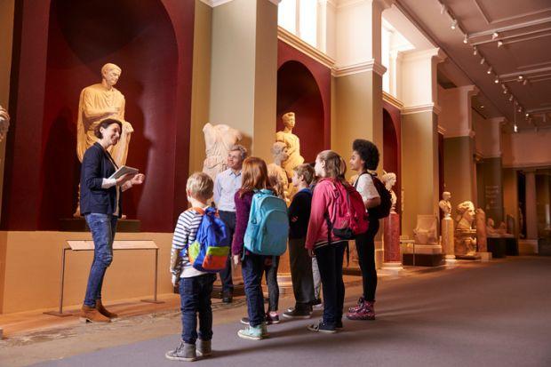 Teacher in museum