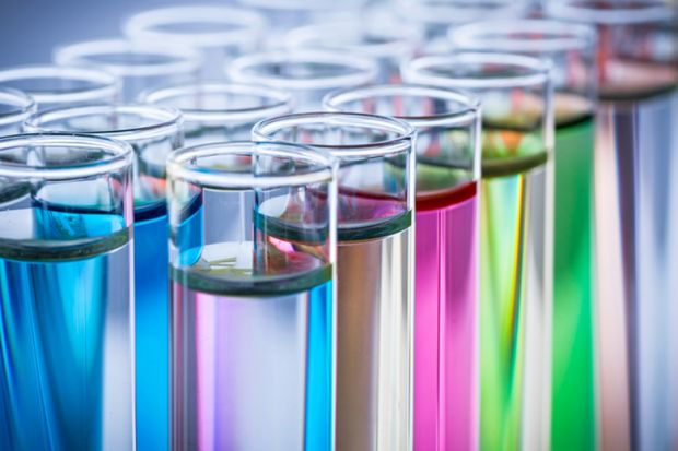 Colourful test tubes
