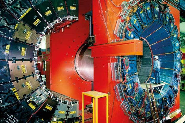 Tevatron particle collider