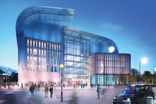 The Francis Crick Institute building, concept illustration