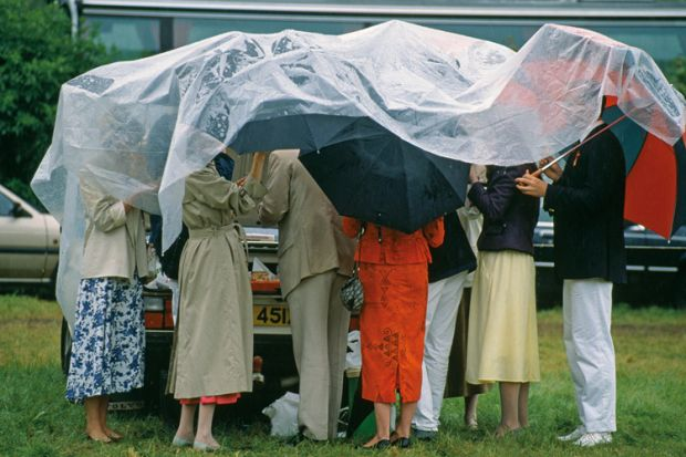 England, Oxfordshire, Henley Regatta, people under cover