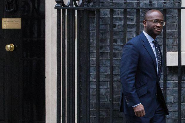 Sam Gyimah walks past 10 Downing Street