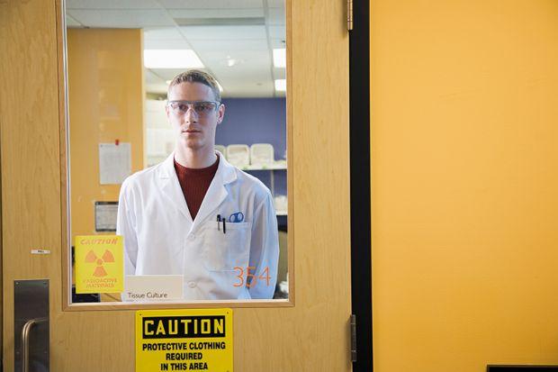 Scientist in lab coat