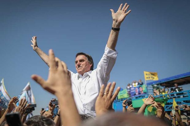 Brazilian presidential candidate Jair Bolsonaro