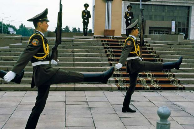 Changing of the guard ceremony in Bishkek, Kyrgyzstan