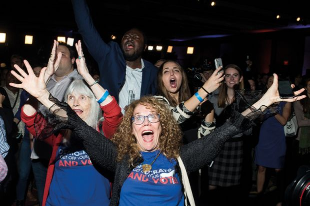 Democrats gather for election night in Washington DC