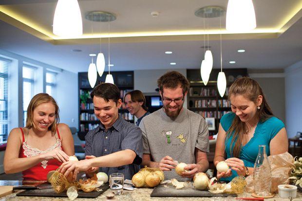 Virginia Tech students make onion soup