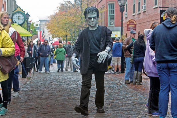 Person in Frankenstein costume