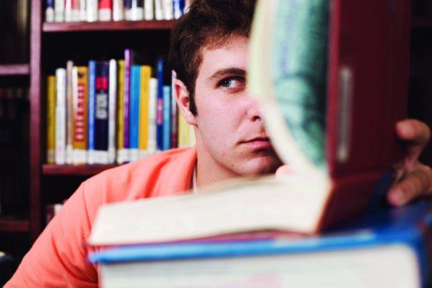 Student considering plagiarism