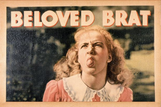 Beloved Brat, poster, Bonita Granville, 1938.