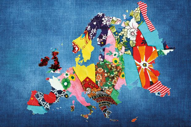 Patchwork map of Europe