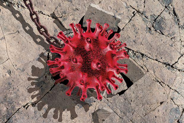 Coronavirus wrecking ball