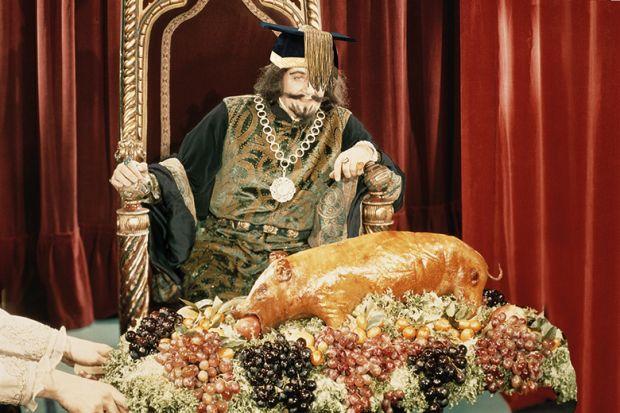 Vice-chancellor on throne