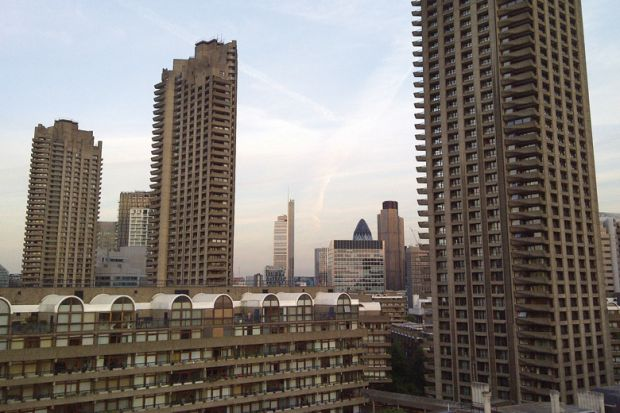Tower blocks, Barbican Estate, London