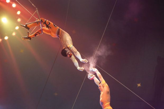 Trapeze artist performance