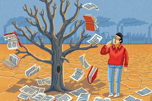 Book tree illustration