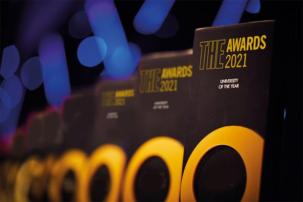 Trophies for THE Awards 2021 shortlist announced