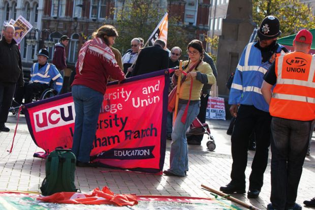 TUC rally and demonstration, Tory Party Conference, Birmingham City Centre