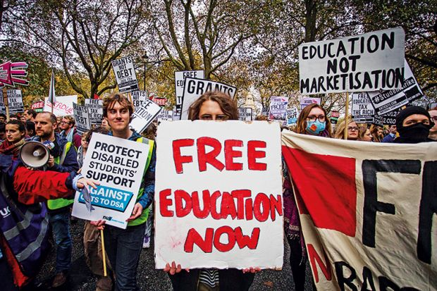 Tuition fees protesters