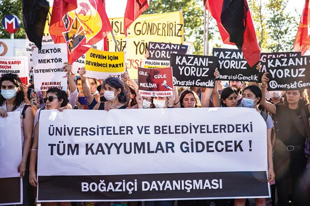 Campus protests in Turkey