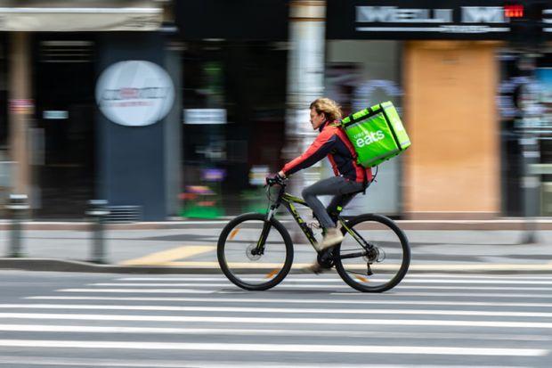 Uber Eats food delivery gig economy