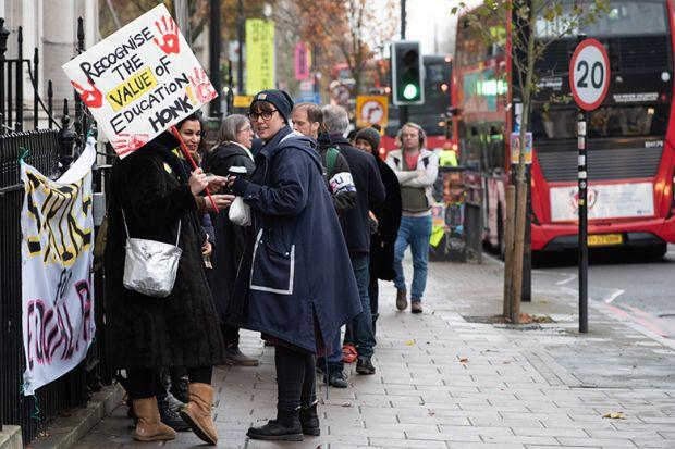 UCU strike at Goldsmiths, University of London