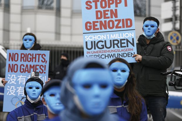 Berlin protest against the Chinese government's policies towards Uighurs