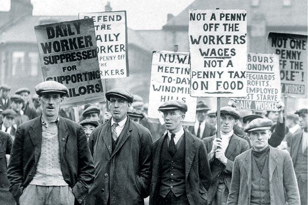 UK workers demonstrating during General Strike of 1926