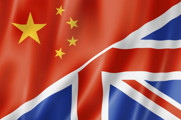 UK China flag