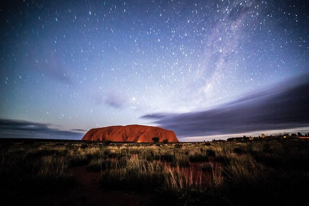 Night sky at Uluru