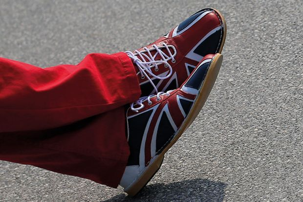 Union flag shoes