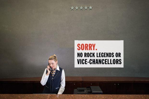 University hotel receptionist