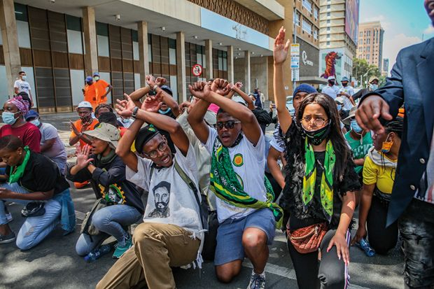 South African students want those in tuition arrears to be allowed back to class