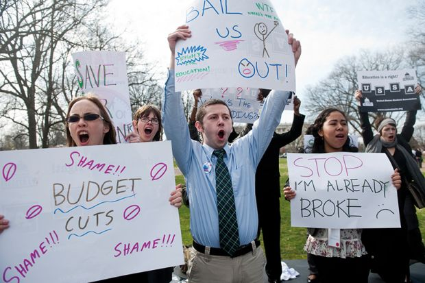 US higher education protesters