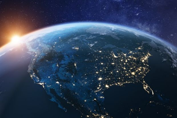 The US seen from space