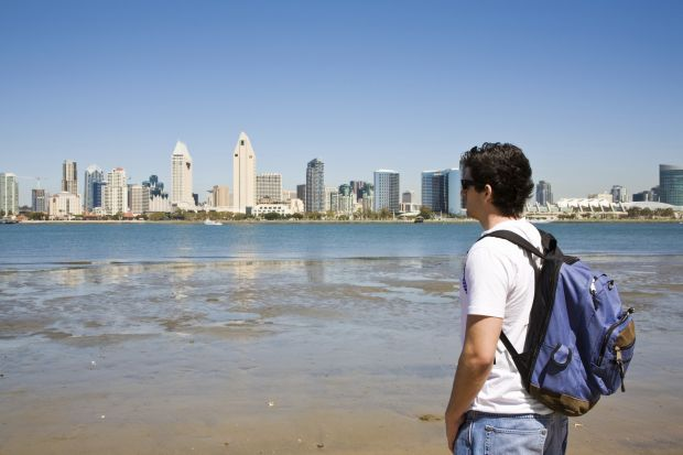 Man looking at San Diego