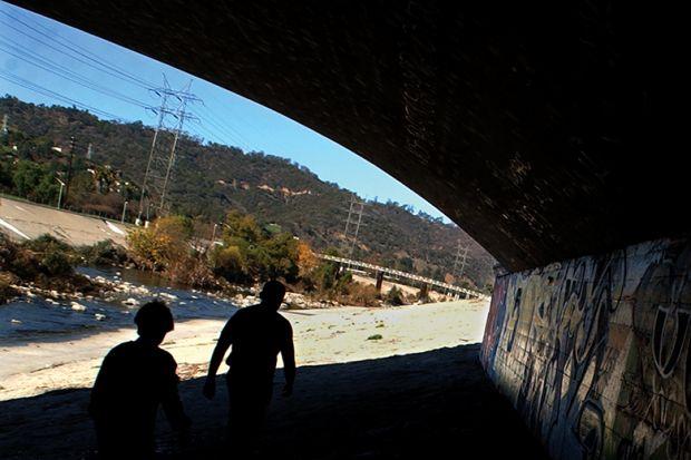 Graffiti along the Los Angeles River