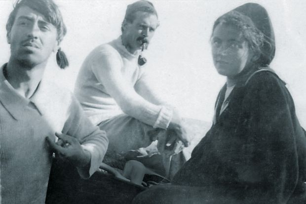 Walter Reeve, Harold Oakeshott and Grace Oakeshott