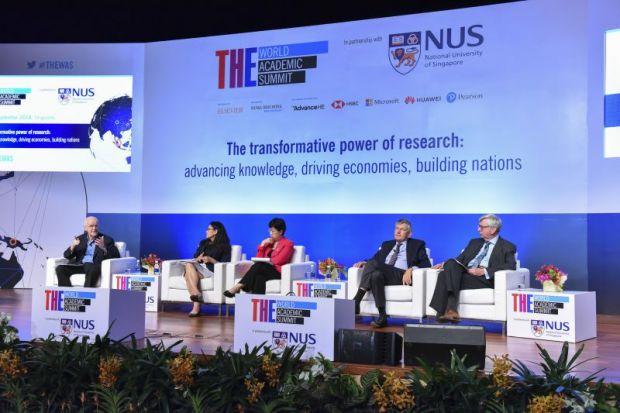 World Academic Summit government, industry, university panel