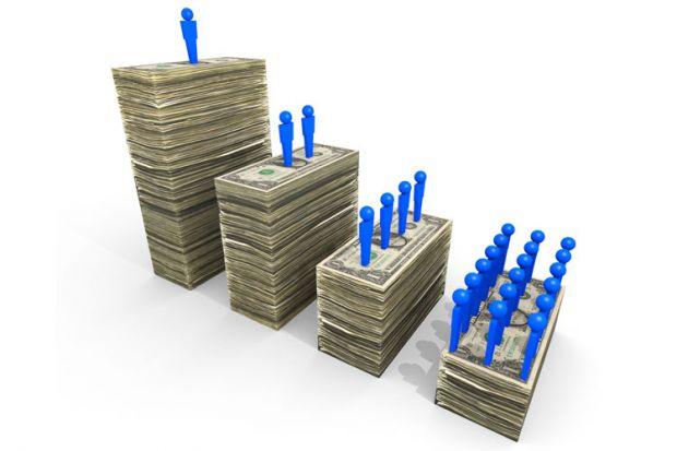 Wealth disparity (illustration)