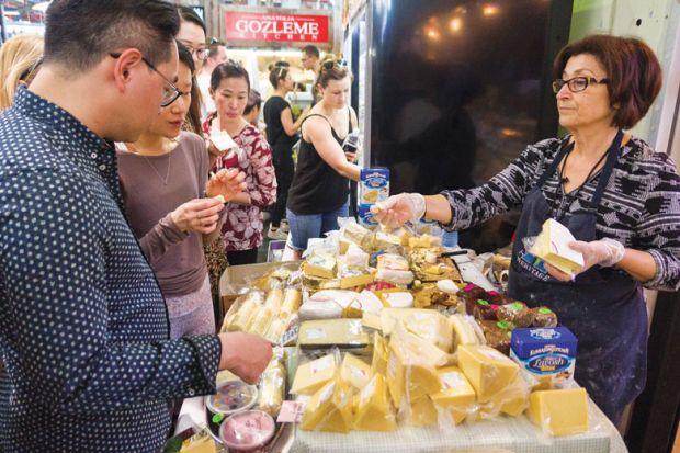 Cheese festival at Prahran Market Melbourne Australia.